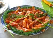 Fresh Salmon Marinated in Dill