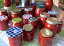 Traditional Tomato Sauce for Canning