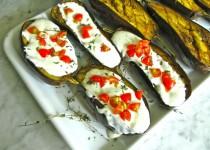 Grilled Eggplants with Yogurt Sauce