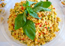 Veg Israeli Couscous with Herbs and Vinaigrette