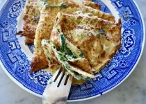 Savoury Crepes, Ricotta, Spinach and Parmesan Oven Baked