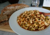 Short Pasta with Sweet Peas and Tomato Sauce