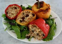Greek Stuffed Peppers with Aromatic Rice