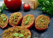 Roasted Stuffed Tomatoes with Herbs and Breadcrumb