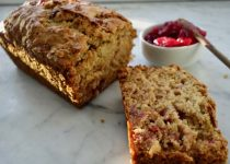 Apple Cranberry Bread with Orange Peel (dairy-free)